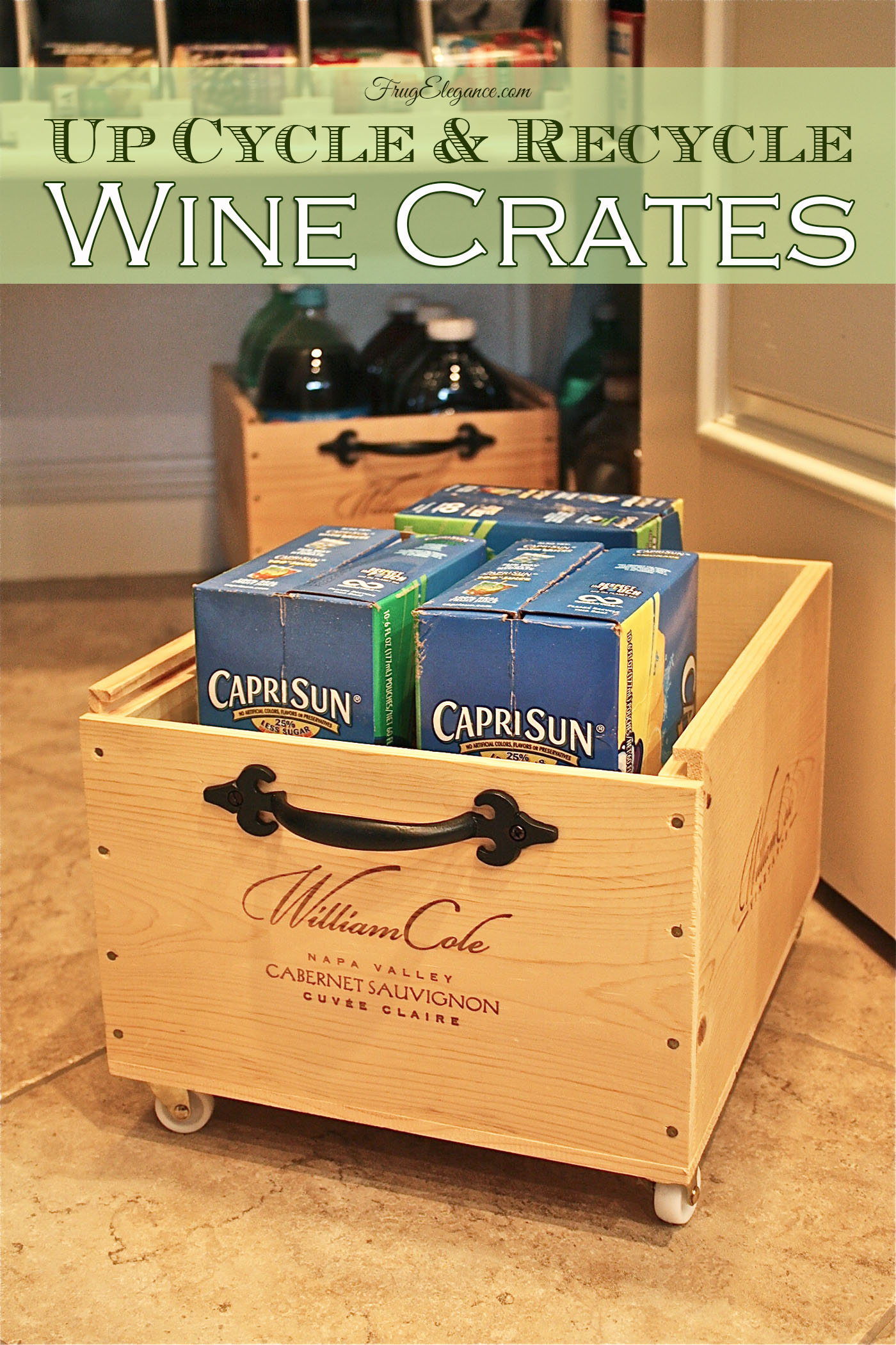 Wine Crates Up Cycle Amp Recycle With Wheels Frugelegance