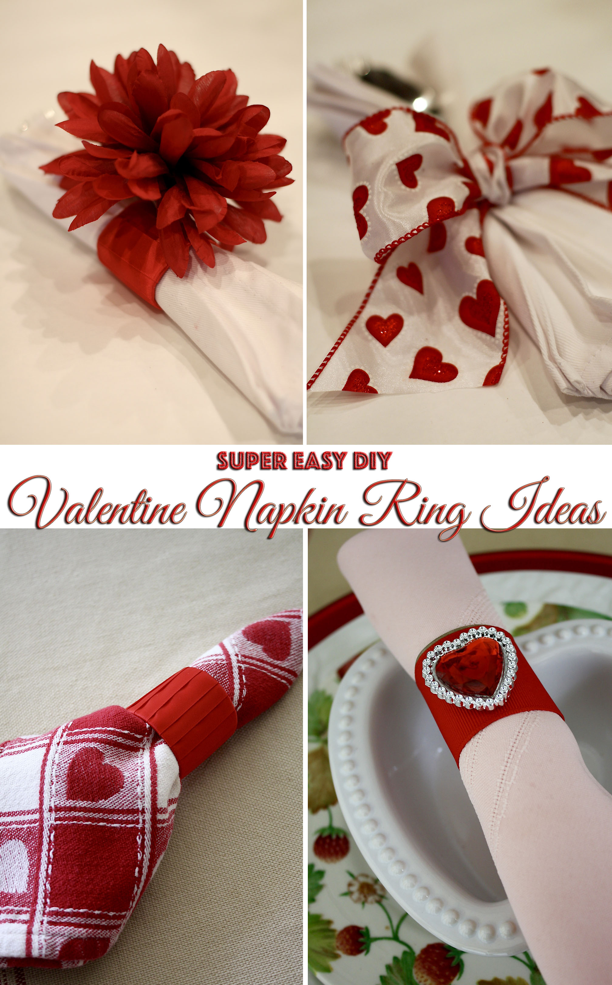 Super Easy Valentine Napkin Ring Ideas Frugelegance
